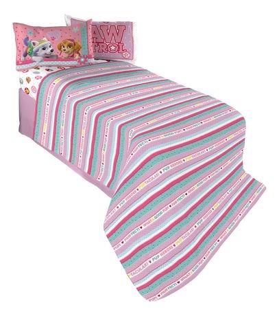 ens draps pour lit double simple best pup pals de la pat 39 patrouille. Black Bedroom Furniture Sets. Home Design Ideas