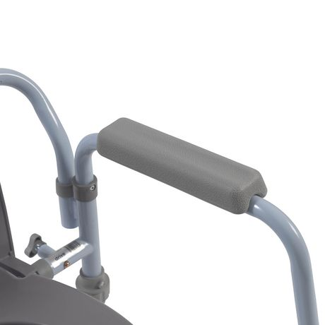 Drive Medical Folding Bedside Commode with Bucket and Splash Guard - image 2 of 4
