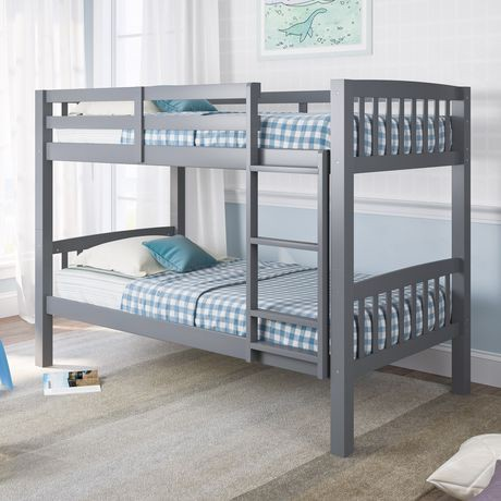 Corliving Dakota Grey Painted Wood Bunk Bed Walmart Canada