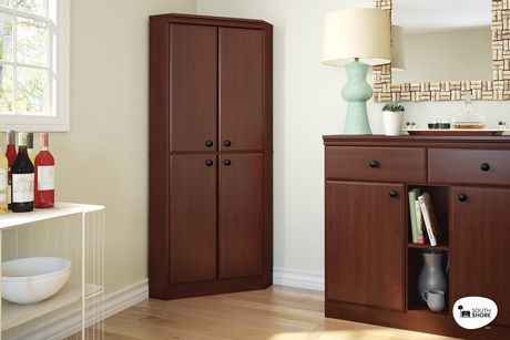 armoire de coin morgan de south shore 4 portes walmart. Black Bedroom Furniture Sets. Home Design Ideas