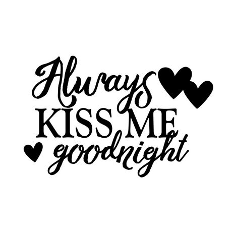 Artissimo Designs Always Kiss Me Goodnight Wall Decal - 20x13 ...