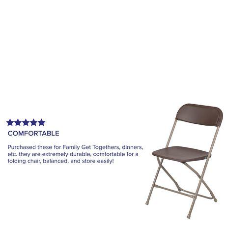 Flash Furniture Hercules Series Premium Brown Plastic
