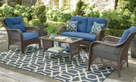 hometrends tuscany 4 piece conversation set walmart canada rh walmart ca walmart patio table umbrella walmart patio table small