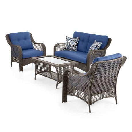Hometrends tuscany 4 piece conversation set walmart canada for Tuscany patio set walmart