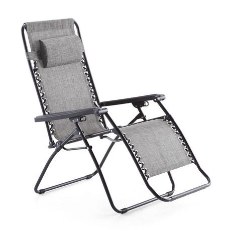 Mainstays deluxe zero gravity chair walmart canada for Chaise zero gravite