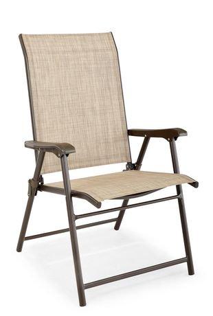 chaise pliante en toile de hometrends walmart canada. Black Bedroom Furniture Sets. Home Design Ideas
