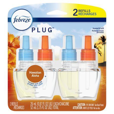 Recharges pour assainisseur d'air éliminateur d'odeurs Febreze Plug, parfum Hawaiian Aloha - image 1 de 7