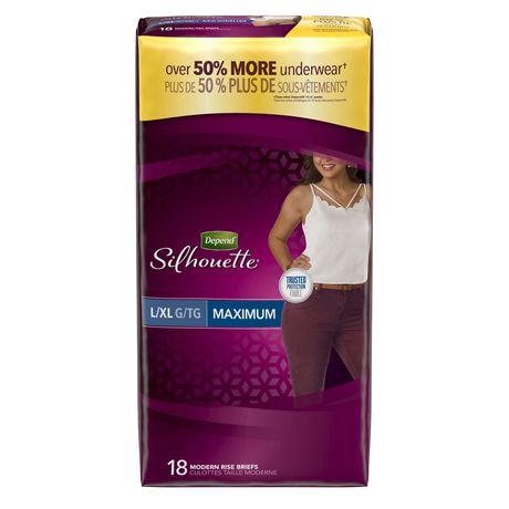 Culottes d'incontinence Depend Silhouette pour femmes, absorption maximale - image 1 de 4
