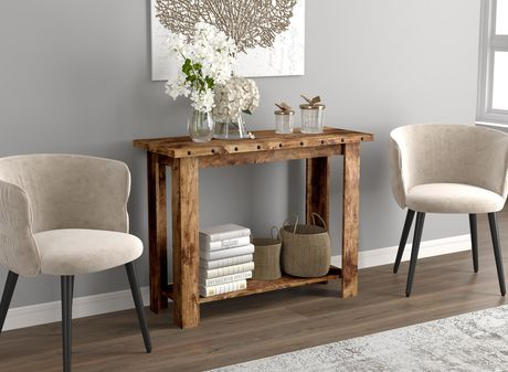 Safdie & Co. Console Table 39L Brown Reclaimed Wood 1 Shelf - image 1 of 4