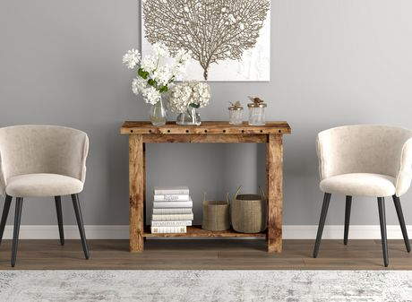 Safdie & Co. Console Table 39L Brown Reclaimed Wood 1 Shelf - image 2 of 4