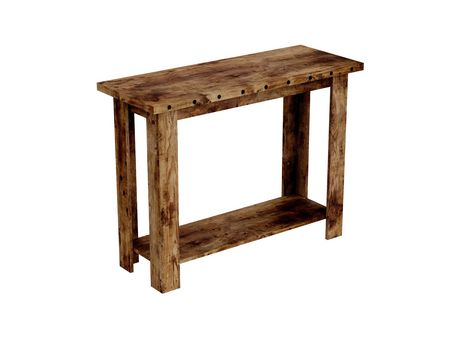 Safdie & Co. Console Table 39L Brown Reclaimed Wood 1 Shelf - image 3 of 4