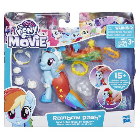 My Little Pony The Movie Rainbow Dash Land Sea Fashion Style Walmart Canada