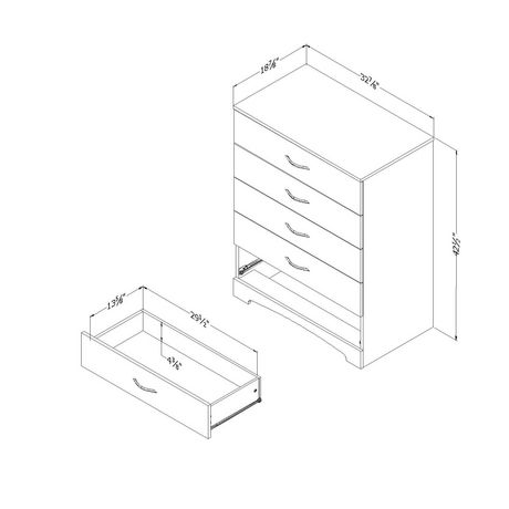 South Shore Soho 5-Drawer Chest - image 5 of 9