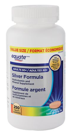Equate Adults 50 Silver Formula Multivitamin And Mineral Supplement Value Size Walmart Canada