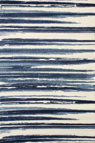 Hometrends Azure Polypropylene Striped Rectangle Area Rug