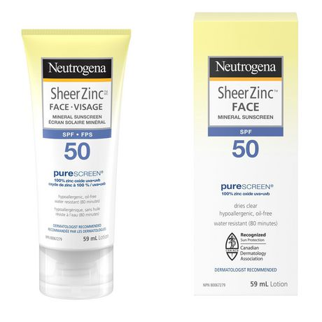 Neutrogena Sheer Zinc Face Sunscreen SPF 50 - image 1 of 9