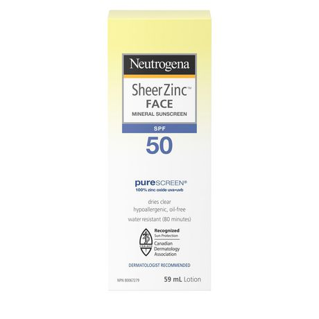 Neutrogena Sheer Zinc Face Sunscreen SPF 50 - image 2 of 9
