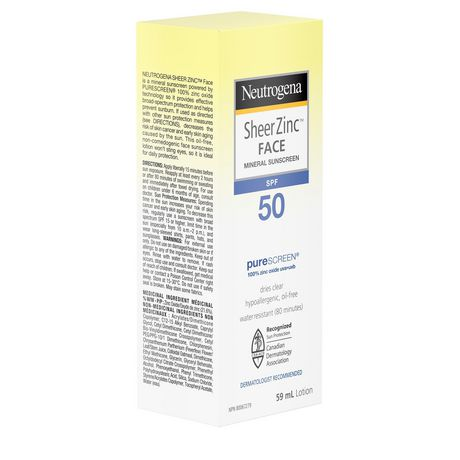 Neutrogena Sheer Zinc Face Sunscreen SPF 50 - image 4 of 9