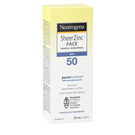Neutrogena Sheer Zinc Face Sunscreen SPF 50 - image 3 of 9