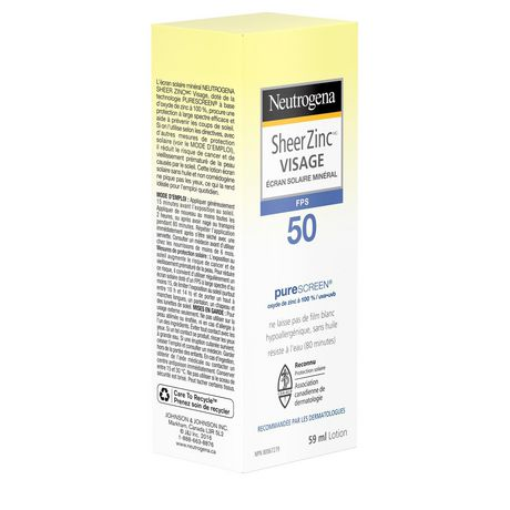 Neutrogena Sheer Zinc Face Sunscreen SPF 50 - image 8 of 9