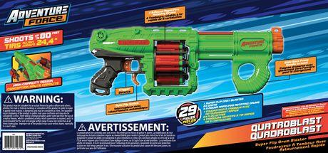 Adventure Force Quatroblast Superflip Drum Blaster - image 3 of 5