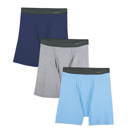 Fruit of the Loom Mens 4-Pack ComfortSoft Waistband Boxer Briefs Underwear