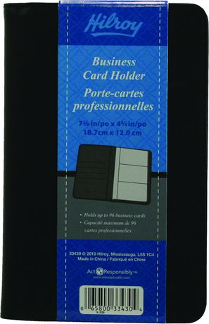 Mead hilroy business small card holder walmartca for Does walmart print business cards