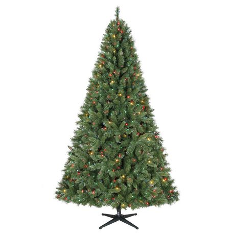 Holiday Time 7.5' Kennedy™ Quick Set® Pine Christmas Tree with Multicolour Lights
