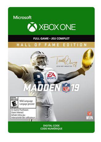 X1 Madden NFL 19: Hall of Fame Edition [Digital Download]
