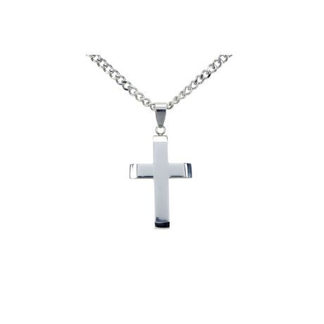 Mens stainless steel cross pendant with chain walmart canada aloadofball Images