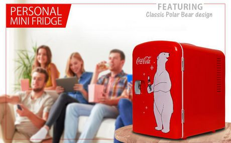 Coca-Cola 6 Can AC/DC Electric Cooler Fridge (4.2 Quarts/4 Liters) - image 2 of 3