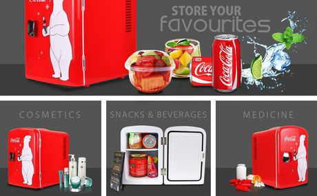 Coca-Cola 6 Can AC/DC Electric Cooler Fridge (4.2 Quarts/4 Liters) - image 3 of 3