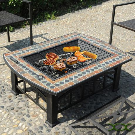 Rectangular Slate Top Fire Pit - image 3 of 4