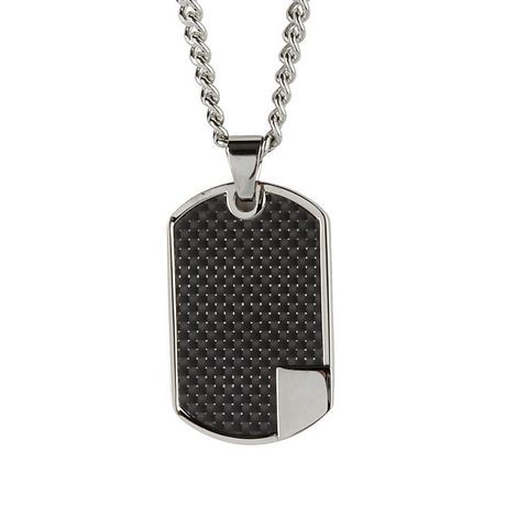 Mens stainless steel dog tag pendant with chain walmart canada aloadofball Choice Image