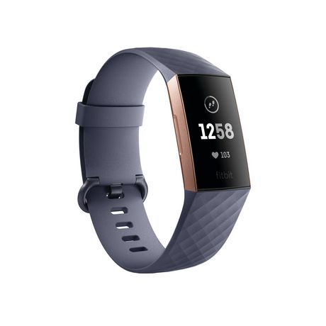 Fitbit Charge 3 Advanced Fitness Tracker, Graphite Aluminum Case And Black Band by Fitbit