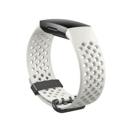 Fitbit Charge 3 Bracelet évolué pour l'entraînement - édition spéciale, boîtier en aluminium graphite, bracelet silicone blanc - image 3 de 5