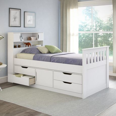 Corliving Madison Collection Twin Single Size Snow White