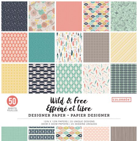 Colorbok Wild & Free Designer Paper - image 1 of 1