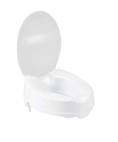 Tremendous Raised Toilet Seat With Lid Bralicious Painted Fabric Chair Ideas Braliciousco
