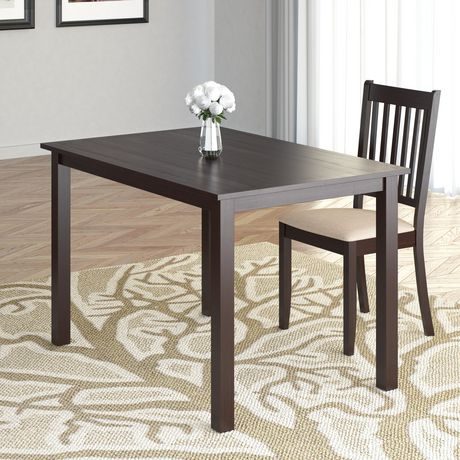 """CorLiving Atwood 43"""" x 28"""" Cappuccino Stained Dining Table - image 3 of 4"""