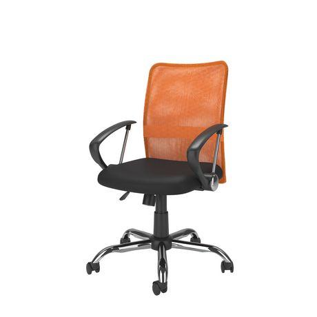 fauteuil de bureau workspace corliving avec dossier profil en maille orange. Black Bedroom Furniture Sets. Home Design Ideas
