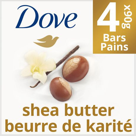 Dove Shea Butter with Warm Vanilla Beauty Bar 4x90g - image 1 of 6