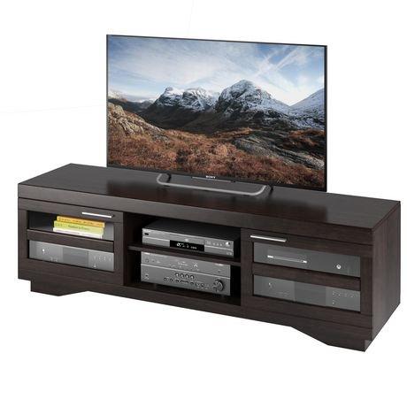 meuble pour t l viseur corliving granville en placage noir moka walmart canada. Black Bedroom Furniture Sets. Home Design Ideas