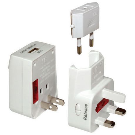 Digipower World Travel Adapter With Built In Usb Charger