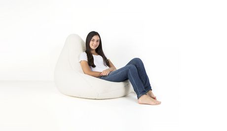 Lounge Co White Sherpa Bean Bag Cover