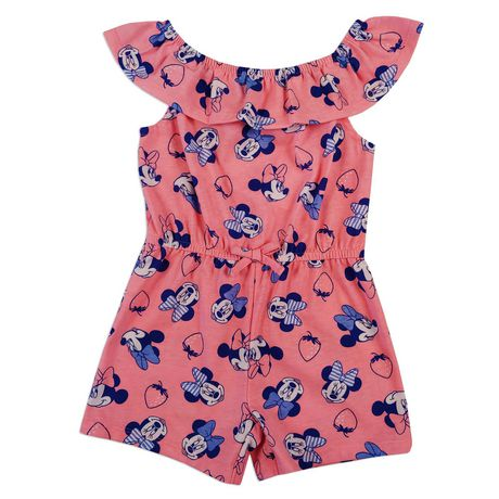 8bf8c7690 Disney Girls Minnie Mouse Romper - image 1 of 1 ...
