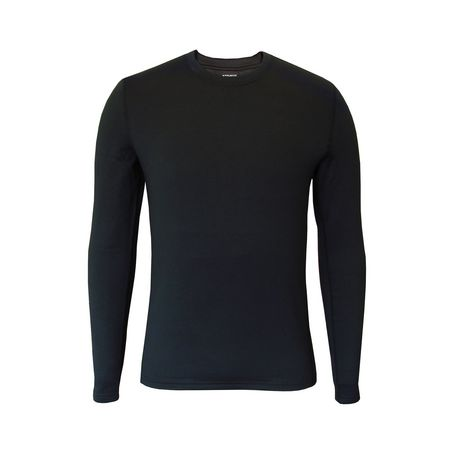 Athletic Works Men's Long Sleeve Fleece, Mid Weight Thermal Crew Neck - image 1 of 1