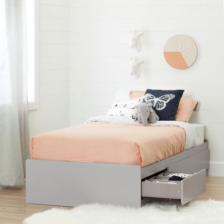 """South Shore Cookie Twin Storage Bed (39"""") with 3 Drawers, Soft Gray - image 1 of 7"""
