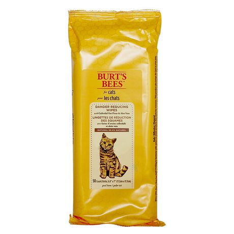Burt's Bees Dander Reducing Wipes with Colloidal Oat Flour And Aloe Vera for Cats - image 1 of 1