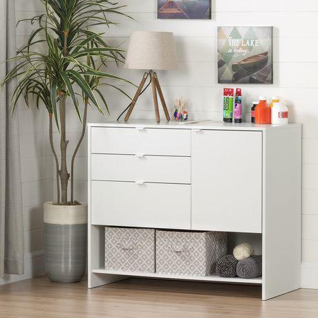 South Shore Crea Meuble De Rangement Pour Bricolage, Blanc Solide | Walmart  Canada